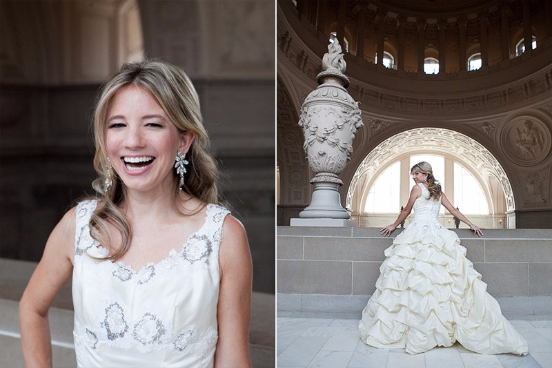 San Francisco City Hall wedding. Bridal portrait.