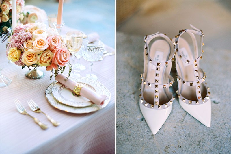Sunstone Winery Wedding details. Valentino shoes