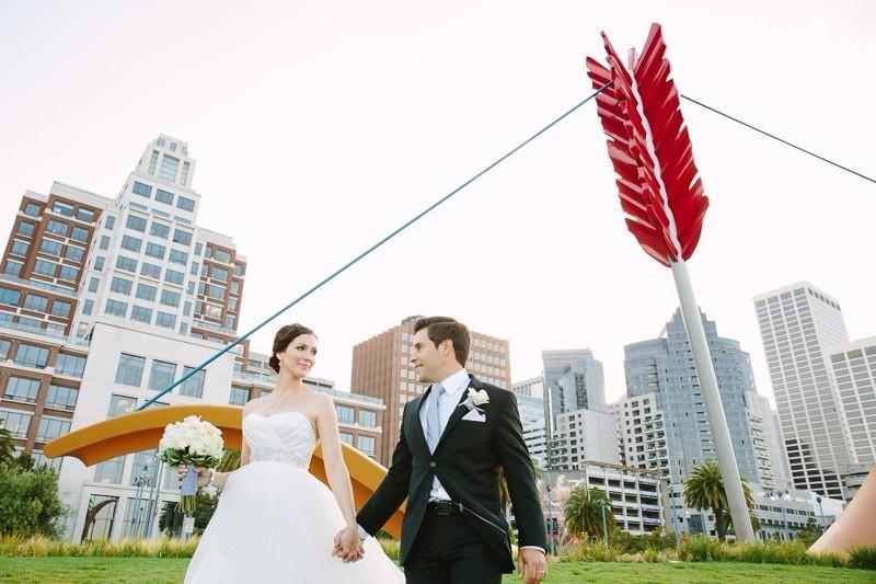 San Francisco Wedding Photography, Cupid's Bow and Arrow Embarcadero